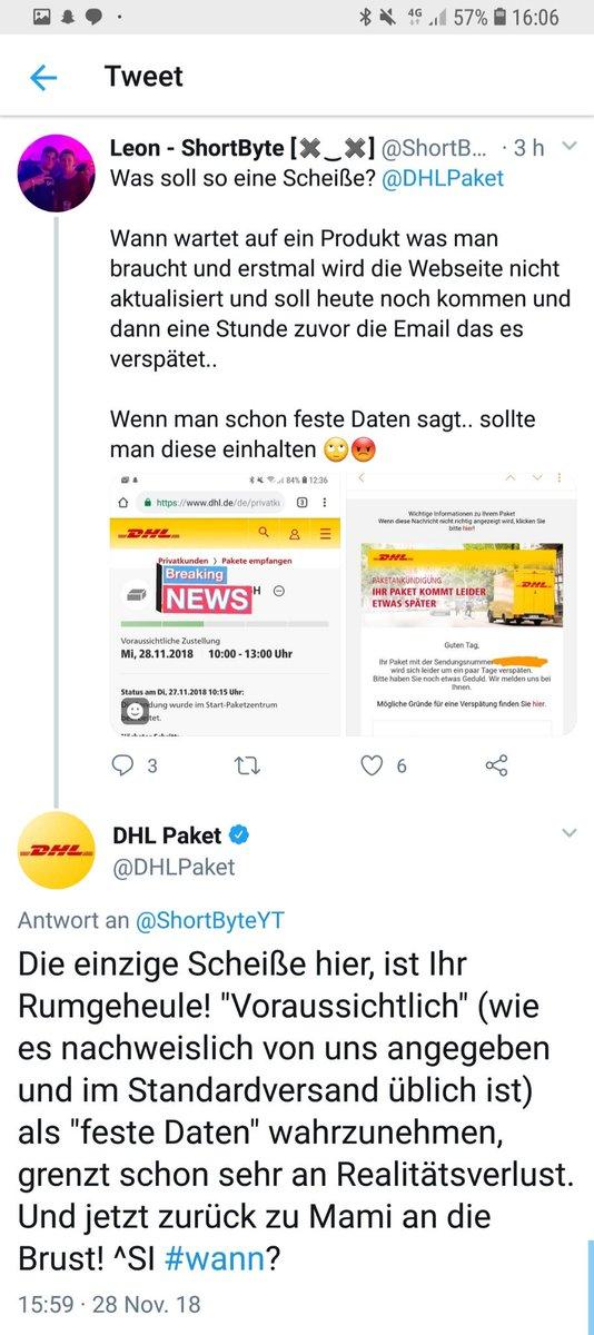 Gavin Karlmeier On Twitter Dhl Wurde Offenbar Solange Mit Einem
