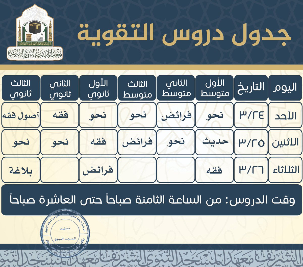 دروس المسجد النبوي