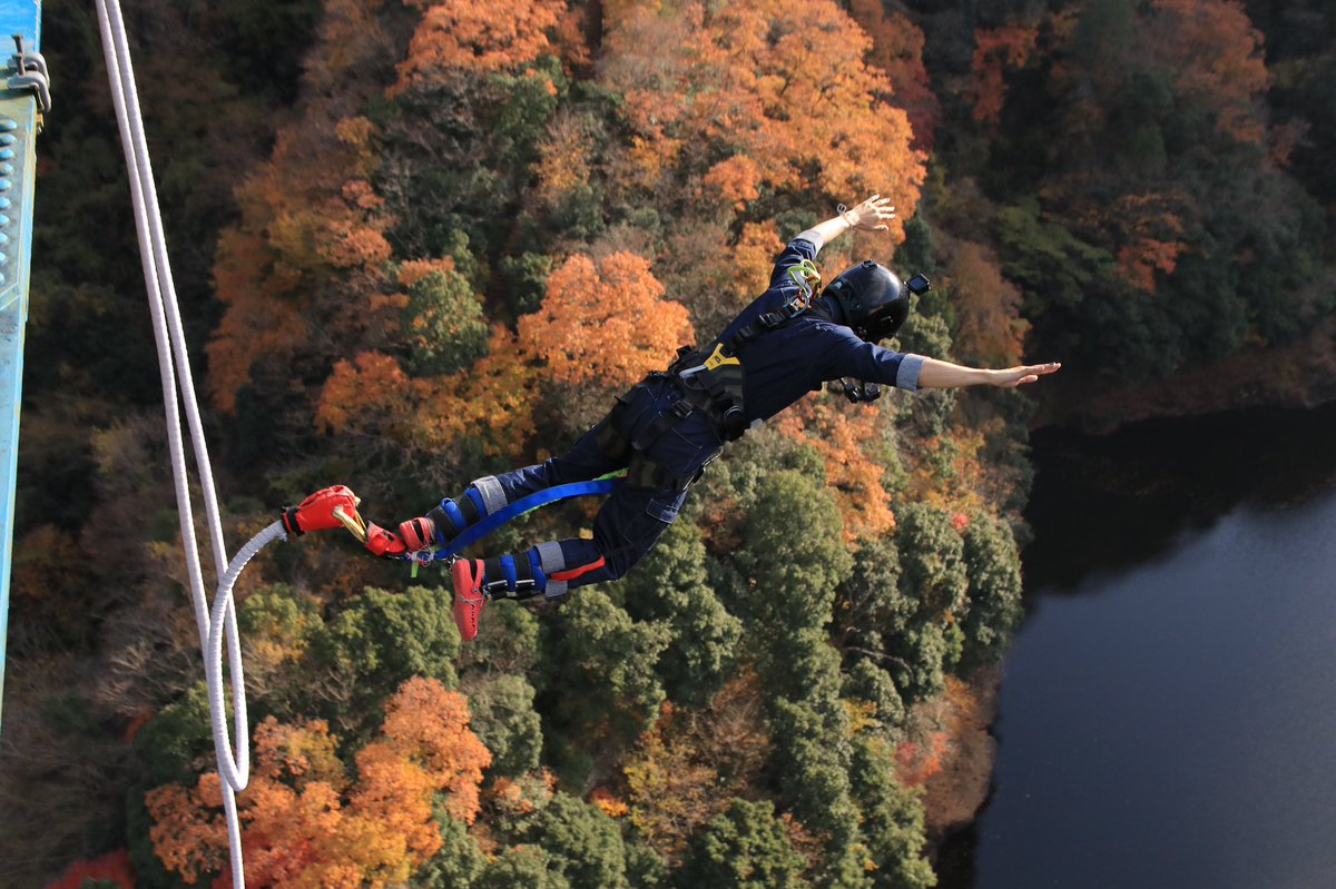 わけあって日本最長のバンジージャンプをしてきましたわけあって…とりあえず生きて帰ってきたよみんなこの橋から飛び降りました今なら全てを許せる気持ちです。人類に救済あれ