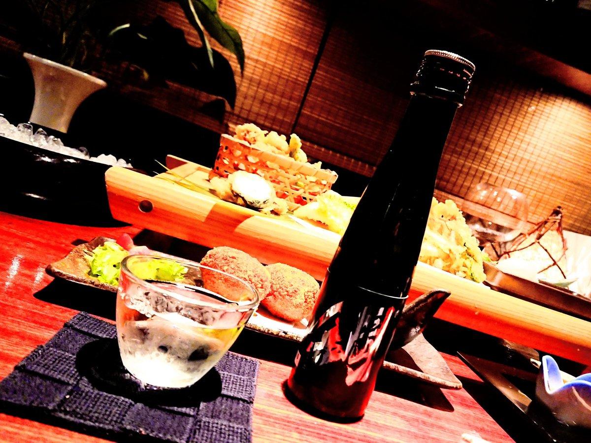 天ぷらと日本酒。和食のおいしいお店、#咲来。福山に来られたら、ぜひおこしやす(^-^)