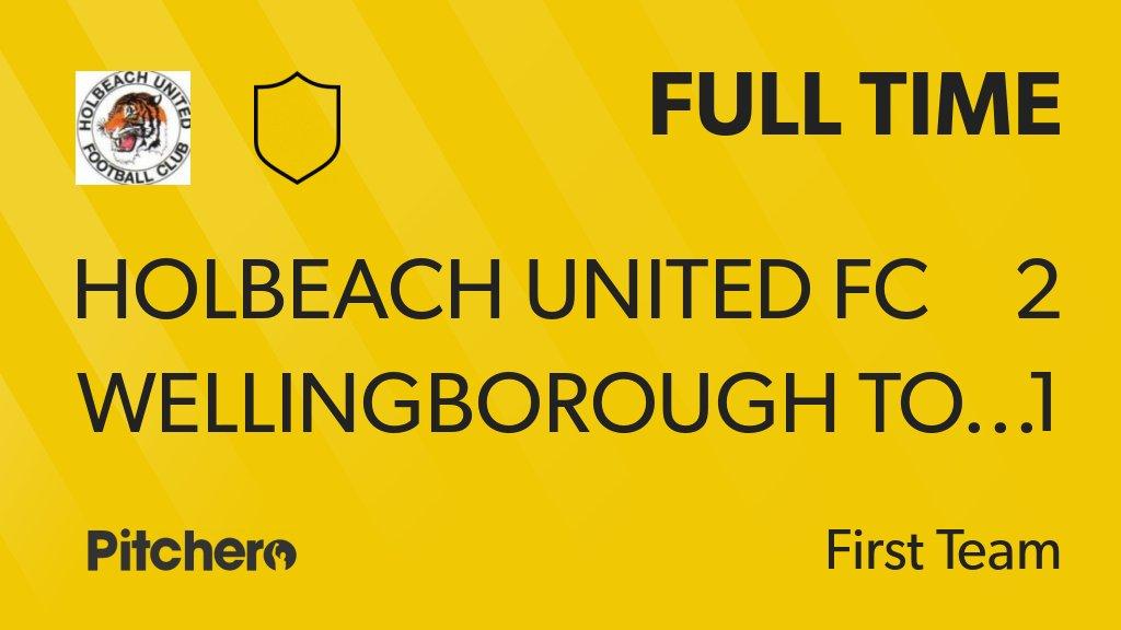FULL TIME: Holbeach United FC 2 - 1 Wellingborough Town #HOLWEL #Pitchero http://www.pitchero.com/clubs/holbeachunitedfc/teams/95044/match-centre/0-4219934?utm_campaign=score_update&utm_medium=post&utm_source=twitter&utm_content=FT…