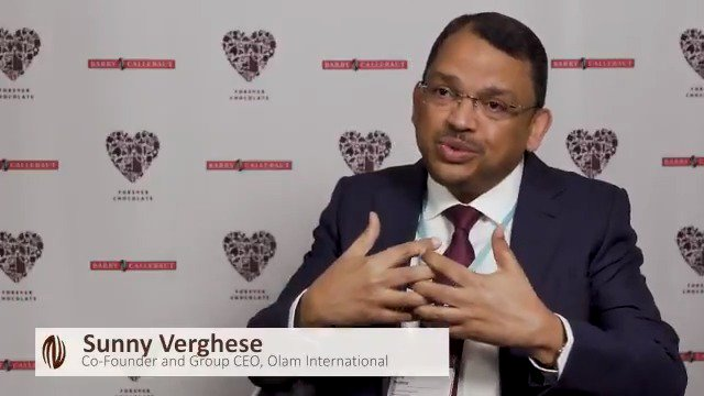 How can we make #sustainable #chocolate the norm? We asked Sunny Verghese, Co-Founder & Group CEO of @Olam. Check out his response in the video below. - Stay tuned for the publication of our #ForeverChocolate Progress Report 17/18 next week on Dec 6, 2018!