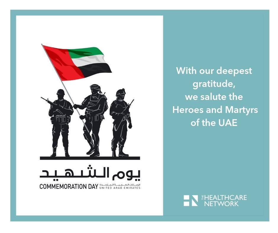 With our deepest gratitude, we salute the Heroes and Martyrs of the UAE. #uaemartyrs #sacrifices #bravery #courage #solidarity #heroes #partnership #thehealthcarenetwork #respect #gratitude #peace #safety #emirates #thndxb