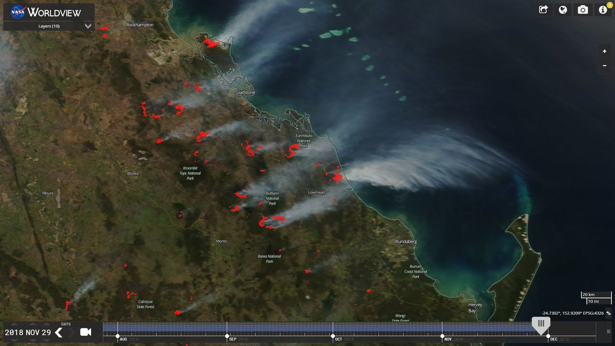 Youstorm On Twitter Curtis Island Bushfire North Of