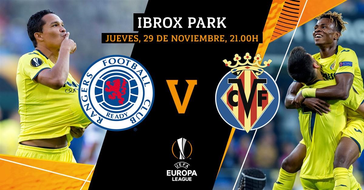 ¡Esta noche tenemos jornada europea ✊! 🆚 @RangersFC ⌚️ 21.00h 🏟 Ibrox Park 🏆 @EuropaLeague 📅 MD 5 (Fase de grupos) 📺 @MovistarPlus 📱 #UEL