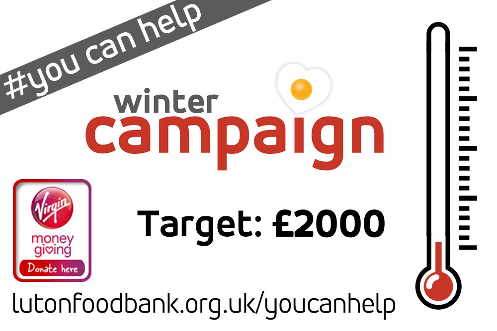 Luton Foodbank On Twitter Were Currently At 60 Of Our