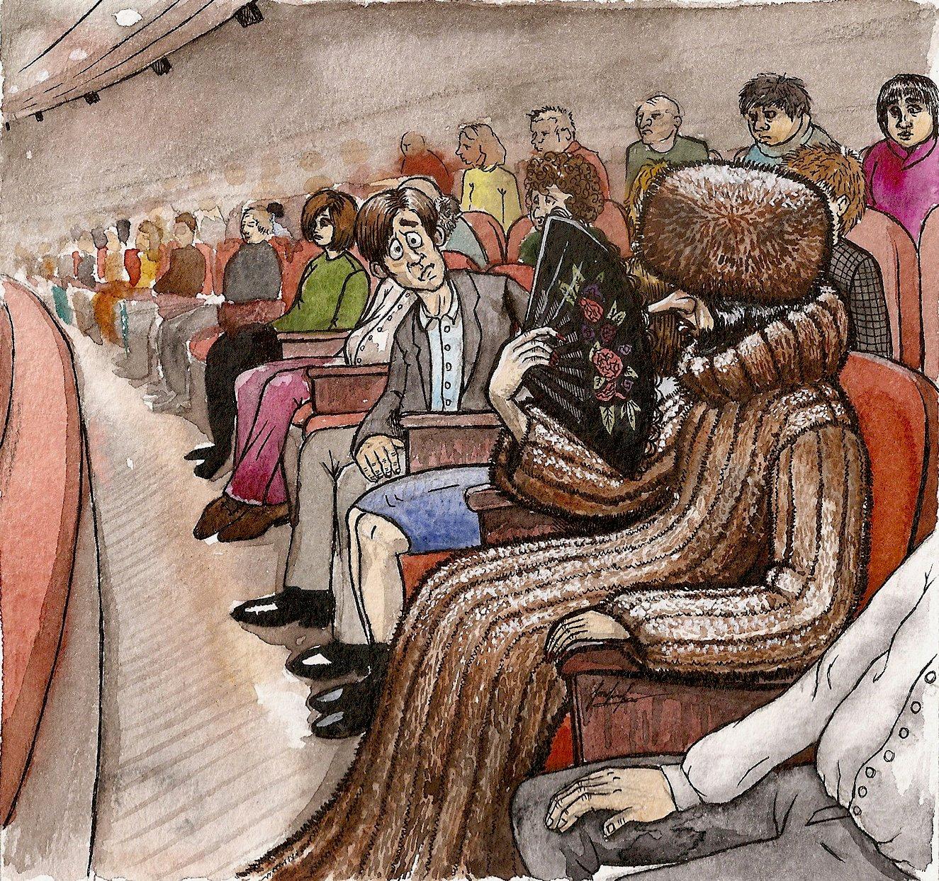газетных зрители картинка рисунок мкб