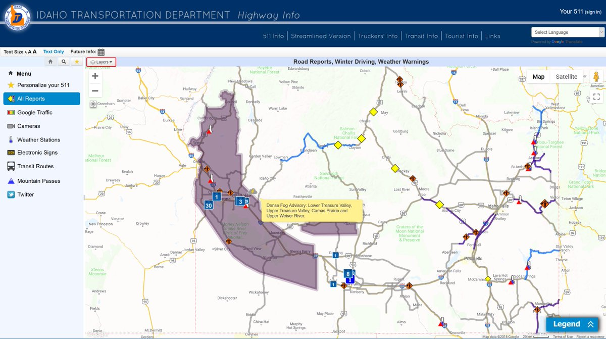 idaho road condition map Itd On Twitter Have You Seen The Severe Weather Function On idaho road condition map