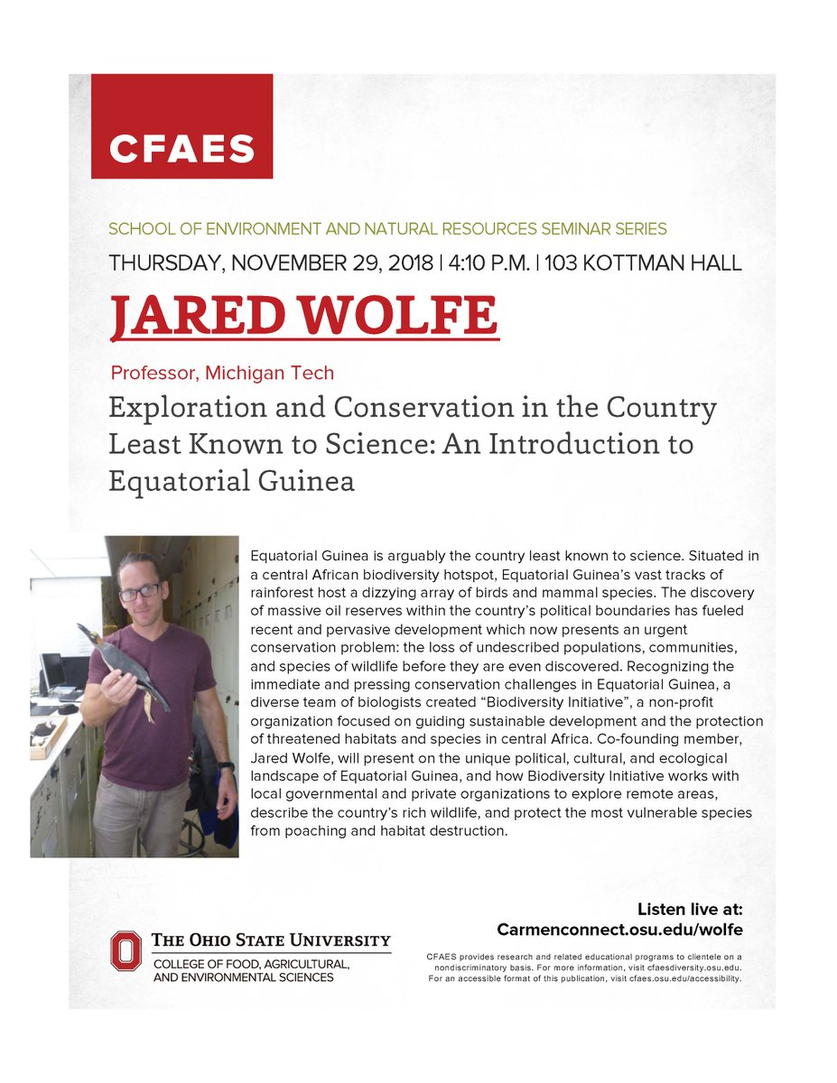 Come see a dandy of a talk from @JaredDWolfe today in our @OSUEnvironment if you can! @__Biodiversity #ornithology #TropicalBiology