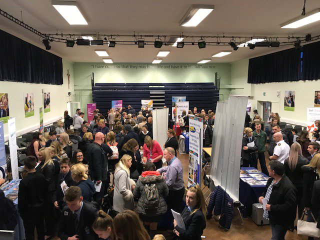 Our Careers evening is happening now!  It is fantastic to see so many of our students and parents here discussing plans for the future #careers #education #apprenticeships #employment #opportunities #highaspirations #epchs