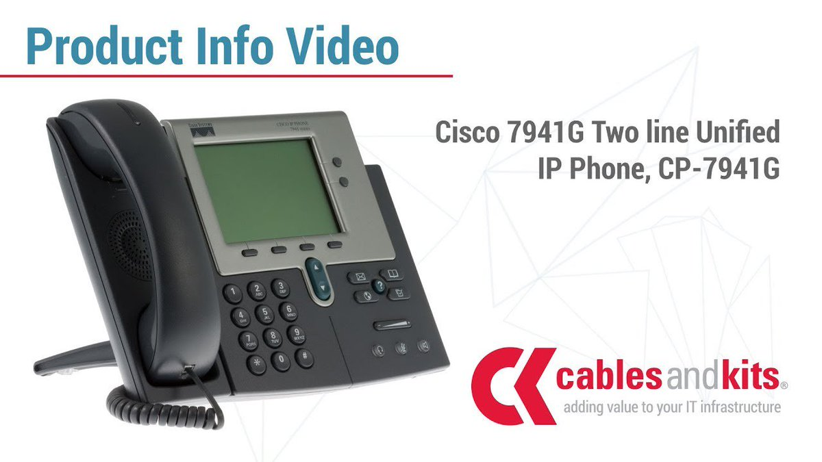 Cisco Ip phone 7941g User Manual
