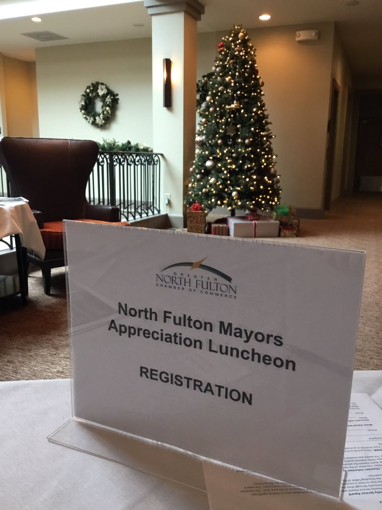 North Fulton Mayors Appreciation luncheon happening now! Thank you to our mayors! @RuthsChrisAlph