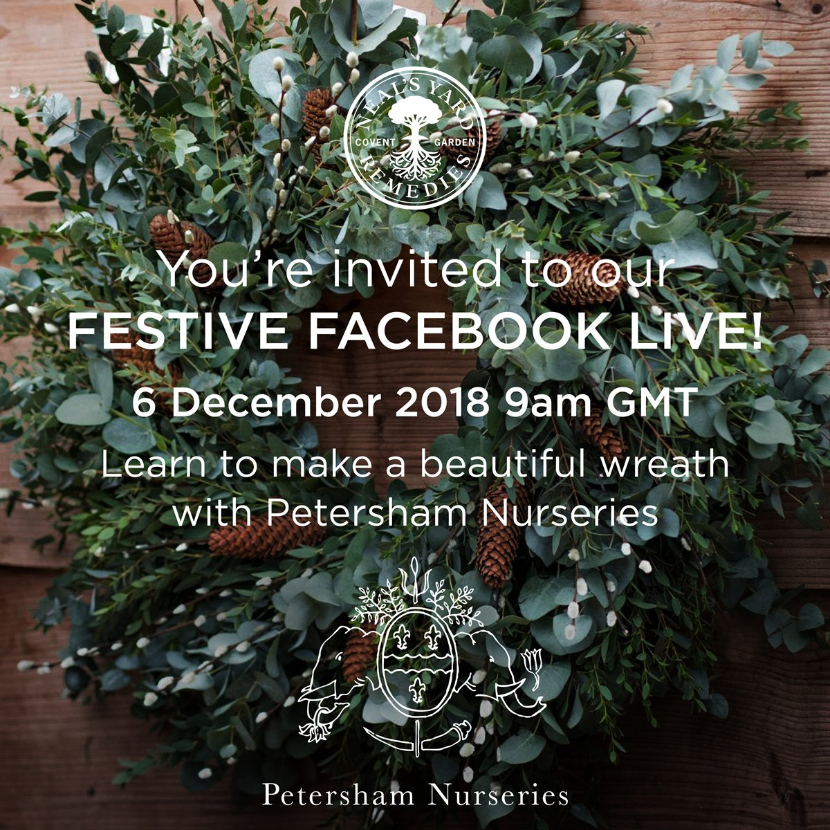 Petersham Nurseries A Twitter You Re Invited To Our Festive Facebook Live Next Thursday 6th December 9am Gmt Join Our Very Own Amanda Brame And Nyr Official Resident Expert Tipper Lewis As They Show