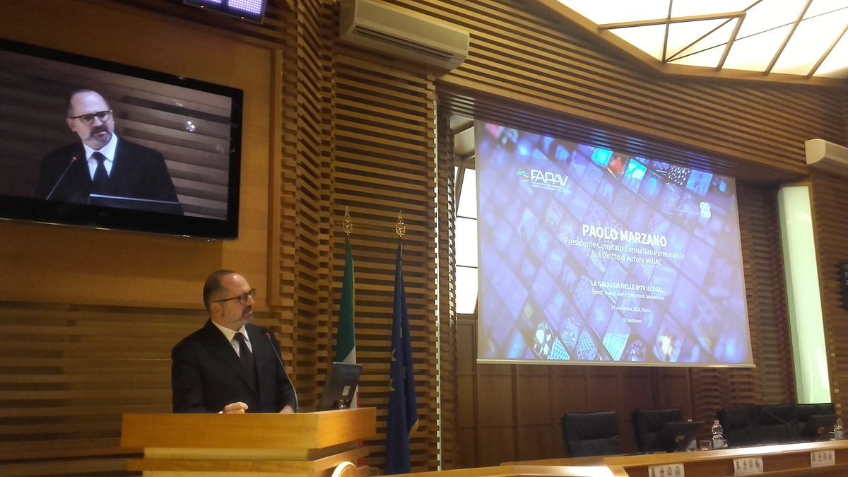 #FAPAV #IPTV illegali #PIRATERIA LE conclusioni di Paolo Marzano (Mibac)