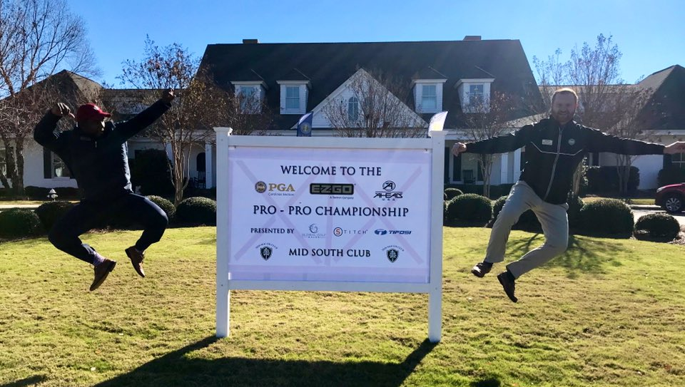 Ready for the Final Round with our @PGAWorks Fellow, Telvin Walker and Tournament Director, Mike Whitenack🏌️♂️Which Pro-Pro team will come out on top?? bit.ly/2ACaFZV