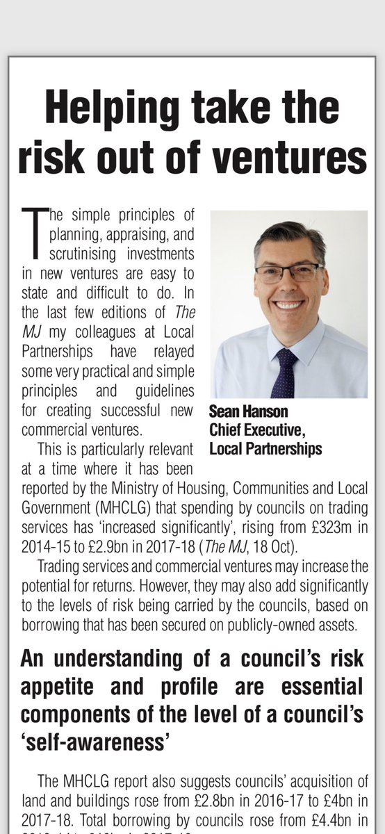 RT @LP_SeanHanson @LP_localgov This is part of the new strand of @LP_localgov #commercialisation training I referred to in my @themjcouk article two weeks ago. I'm looking forward to hearing how well the training has been received.