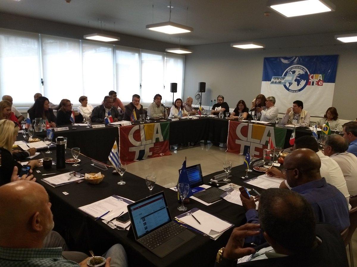 #Ahora en el Comité Ejecutivo de la #Clate en Buenos Aires #FueraG20 #FueraFMI