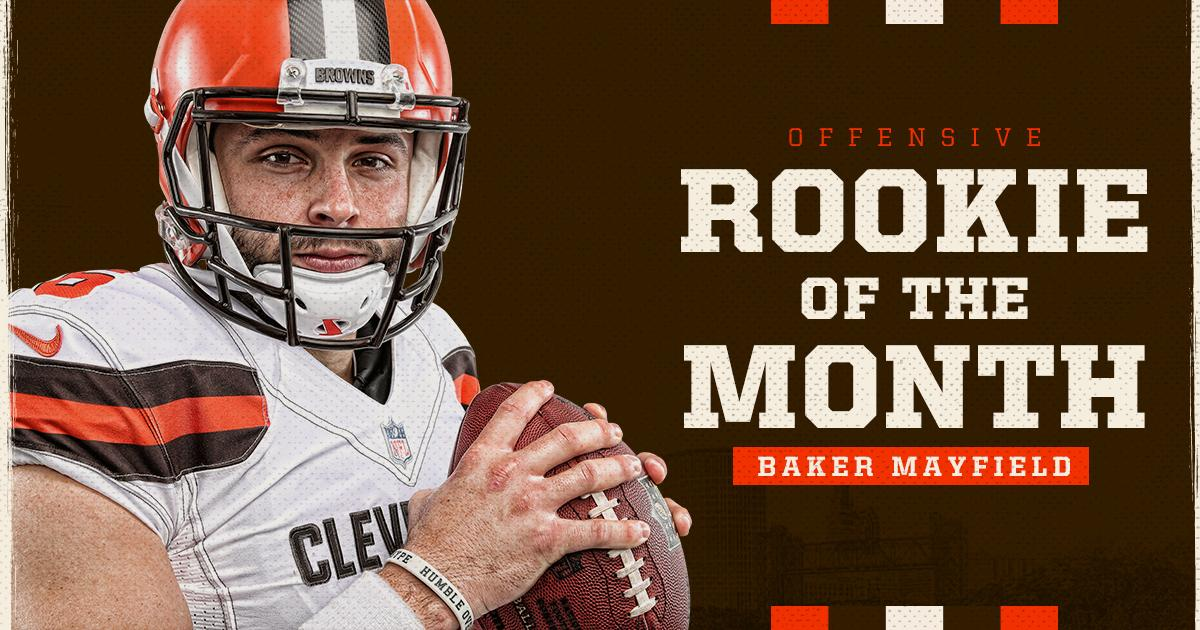 🚨 QB @bakermayfield has won @NFL Offensive Rookie of the MONTH! 🚨 RT to congratulate Baker!