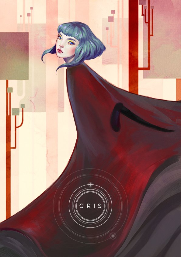 My entry for #grisgame contest!  GRIS is a beautiful game developed by @nomadastudiobcn, if you haven't seen it check it out!