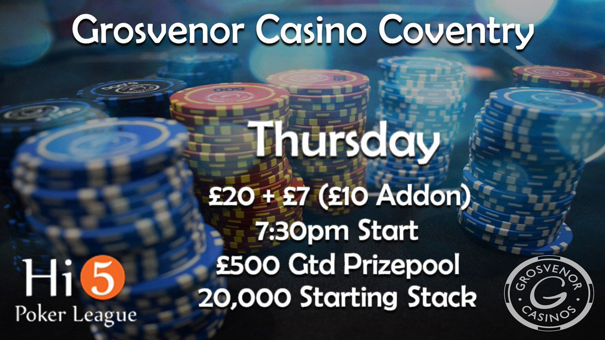 G casino coventry poker schedule today