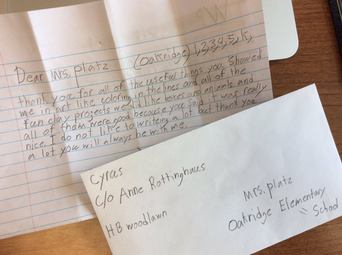 This came in my school mailbox today...and my heart is singing through happy tears. <a target='_blank' href='http://search.twitter.com/search?q=APSarts'><a target='_blank' href='https://twitter.com/hashtag/APSarts?src=hash'>#APSarts</a></a> <a target='_blank' href='http://search.twitter.com/search?q=APSThankful'><a target='_blank' href='https://twitter.com/hashtag/APSThankful?src=hash'>#APSThankful</a></a> <a target='_blank' href='https://t.co/Cw4F6LutQR'>https://t.co/Cw4F6LutQR</a>