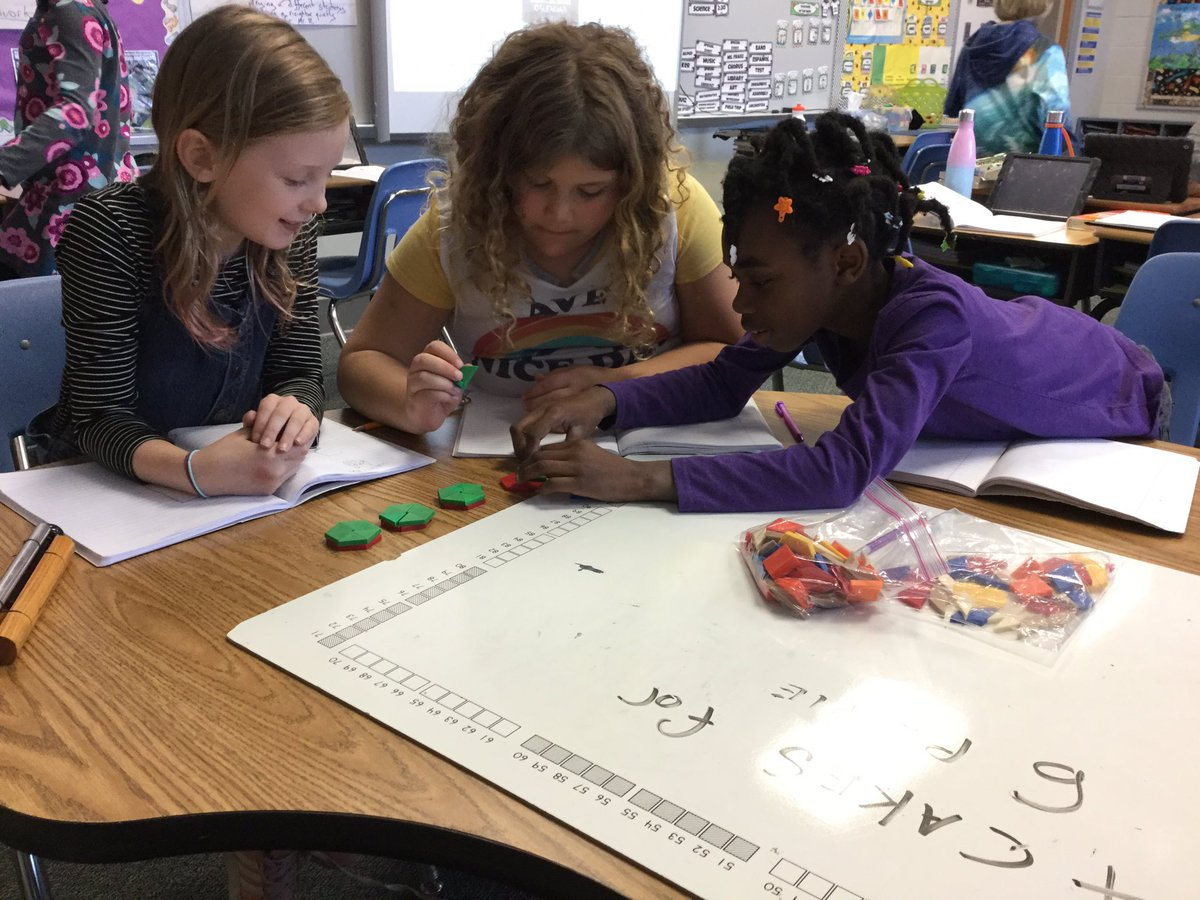 4 cakes for 6 people? Is it a division problem? A fraction problem? Or both? Mr. Rumerman's mathematicians explore with concrete materials how division and fractions are related. <a target='_blank' href='http://search.twitter.com/search?q=ATSLearns'><a target='_blank' href='https://twitter.com/hashtag/ATSLearns?src=hash'>#ATSLearns</a></a> <a target='_blank' href='http://twitter.com/APSMath'>@APSMath</a> <a target='_blank' href='http://twitter.com/APS_ATS'>@APS_ATS</a> <a target='_blank' href='http://twitter.com/ats_math'>@ats_math</a> <a target='_blank' href='https://t.co/XHmUPaFTR3'>https://t.co/XHmUPaFTR3</a>