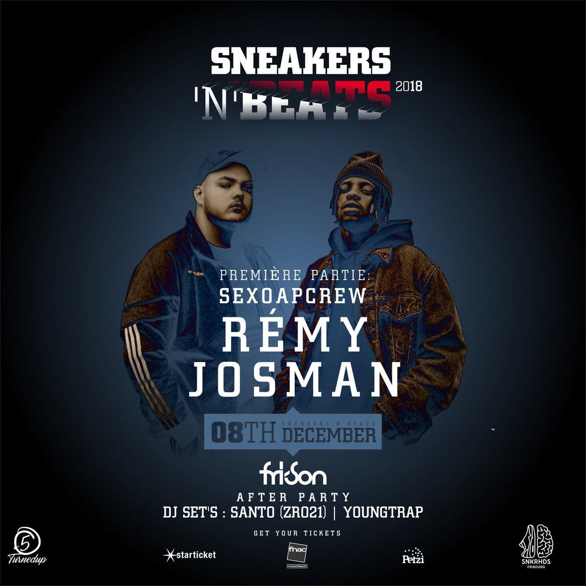 Retrouvez-moi le 8 décembre en compagnie de @JosmanOG pour la soirée Sneakers'N'Beats 2018 🔥