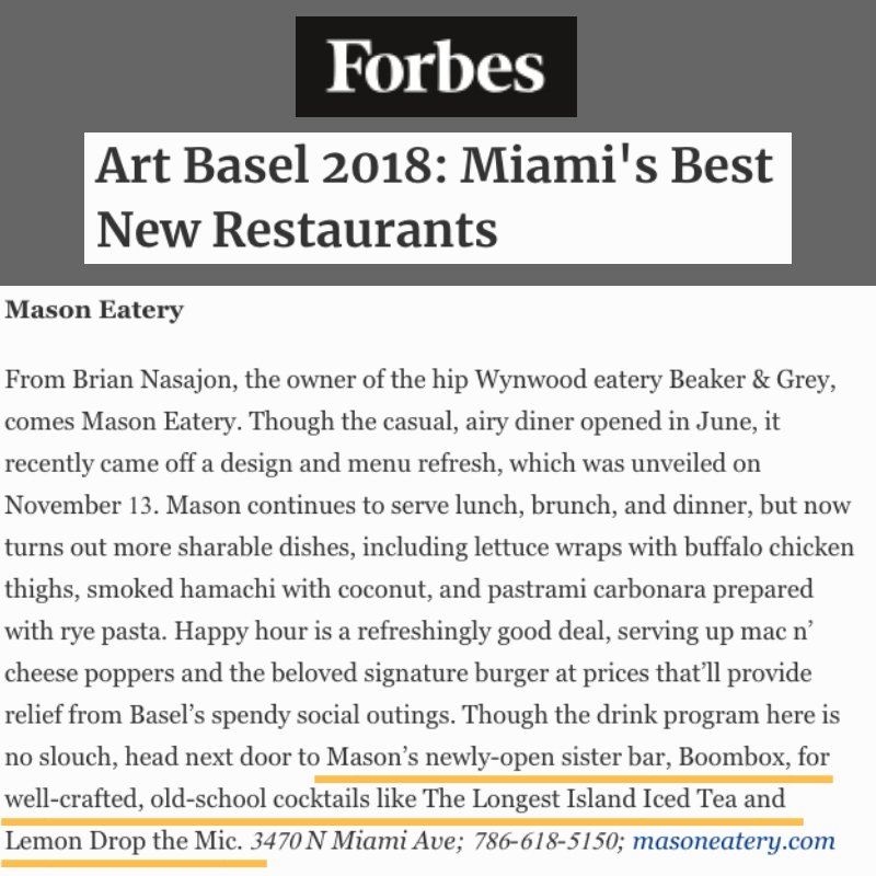 Thanks for the love @Forbes. See you all next week when @ArtBasel hits #Miami. We are ready - are you? https://t.co/iNhjsTYnFY #BOOMBOXMiami #ArtBasel #ArtWeekMiami #Basel #Wynwood #instaart #instaflorida #Art #Miami #Artist https://t.co/iUwp1jYHXZ