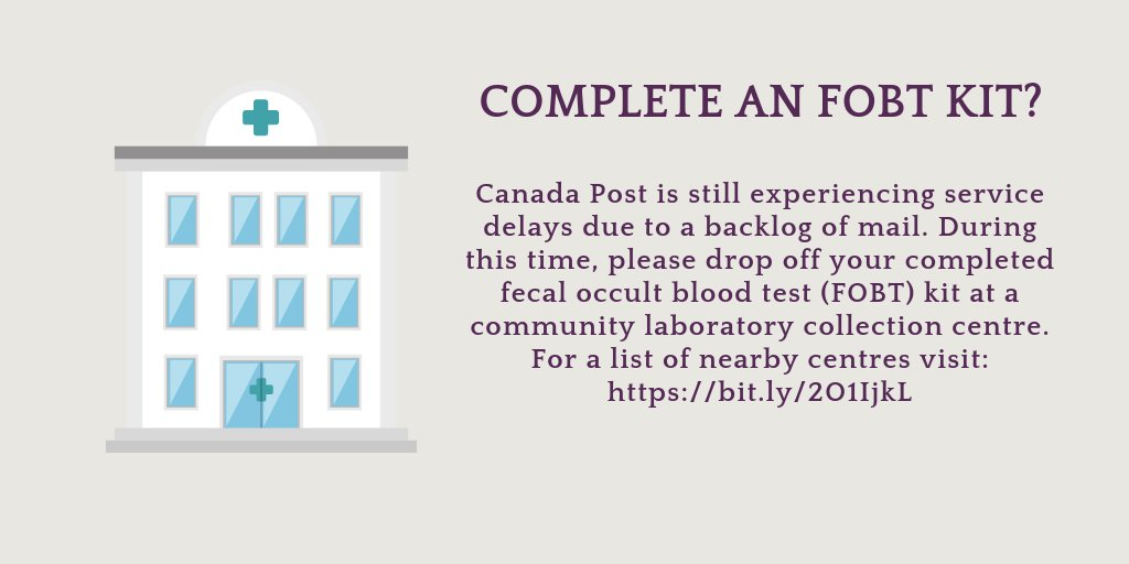 Screen For Cancer On Twitter Canada Post Is Still Experiencing