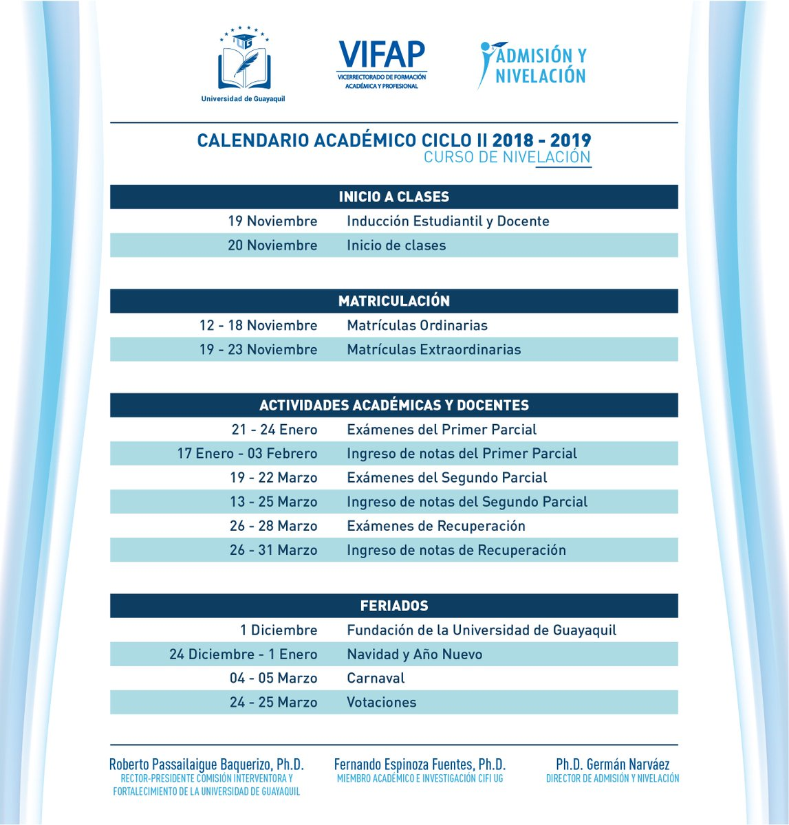 Calendario Under 17.Admision U Guayaquil On Twitter