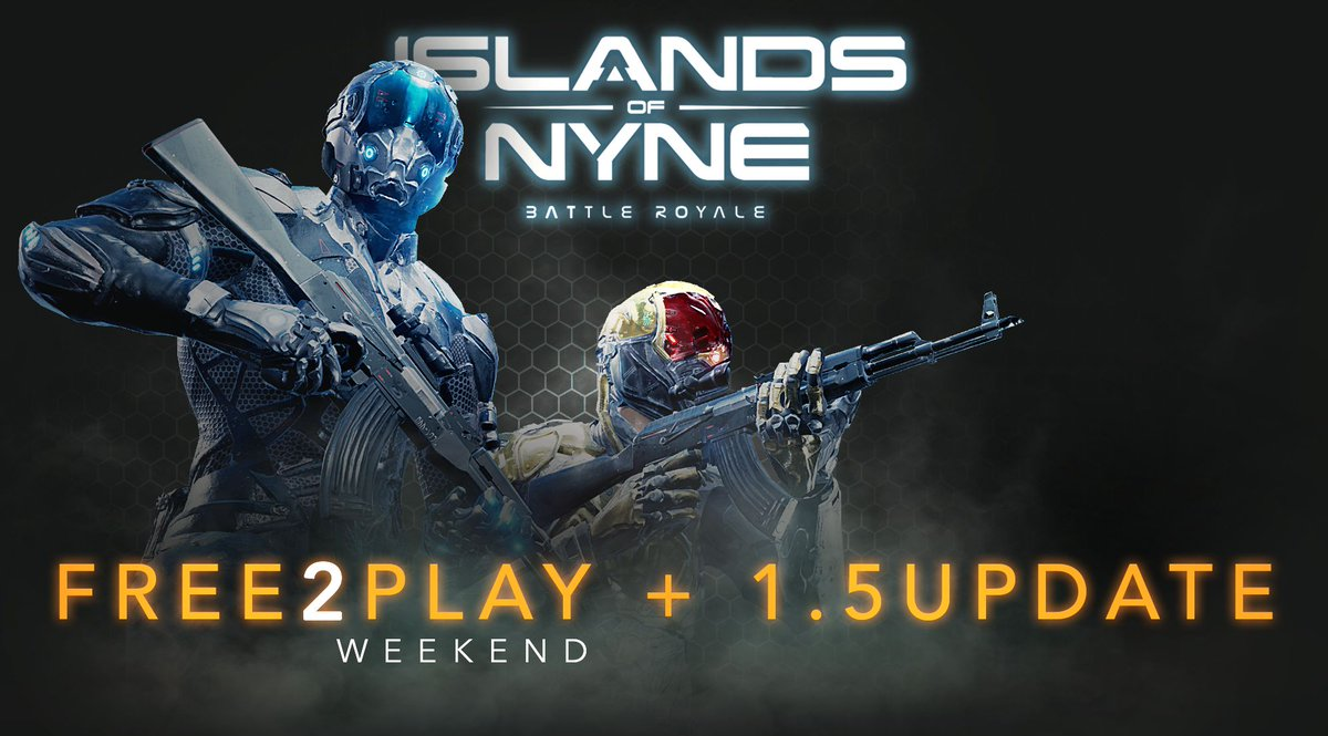 Islands of Nyne's first official Free to play weekend is now LIVE!   You can check out our 1.5 update  showcasing our skin2win system, scrap system and more here: https://forums.islandsofnyne.com/t/f2p-weekend-1-5-update/9057…   See you in the dome!