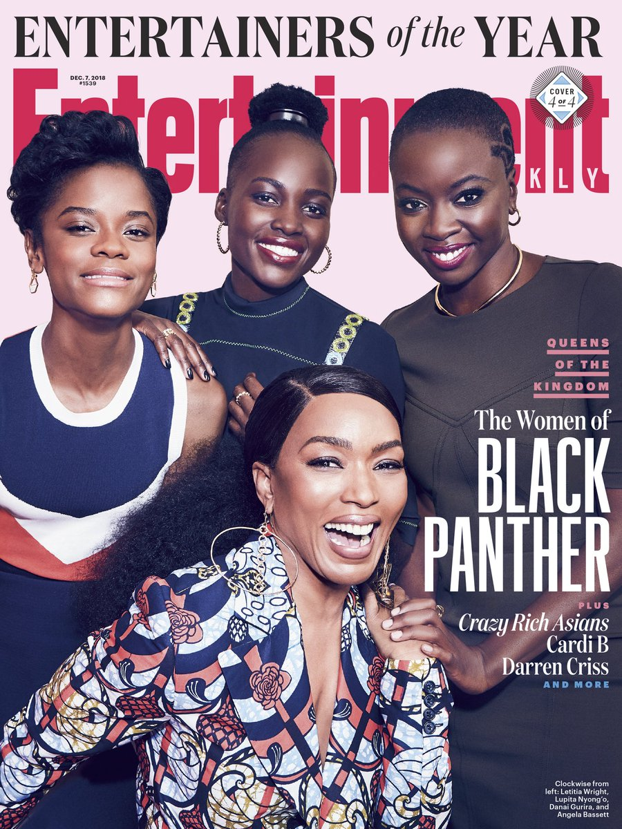 Wakanda Forever! The women of #BlackPanther reunited for @EW's 'Entertainers of the Year' issue. Read more: share.ew.com/T8Dcd00