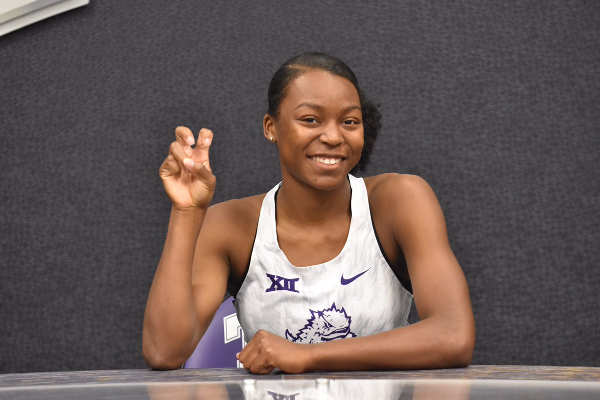 Big XII here I come!!🐸💜 #committed