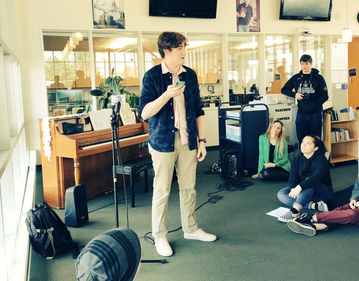 Bachfest! Joshua Kroll performing a poem! @smhsBACH @MSD549C