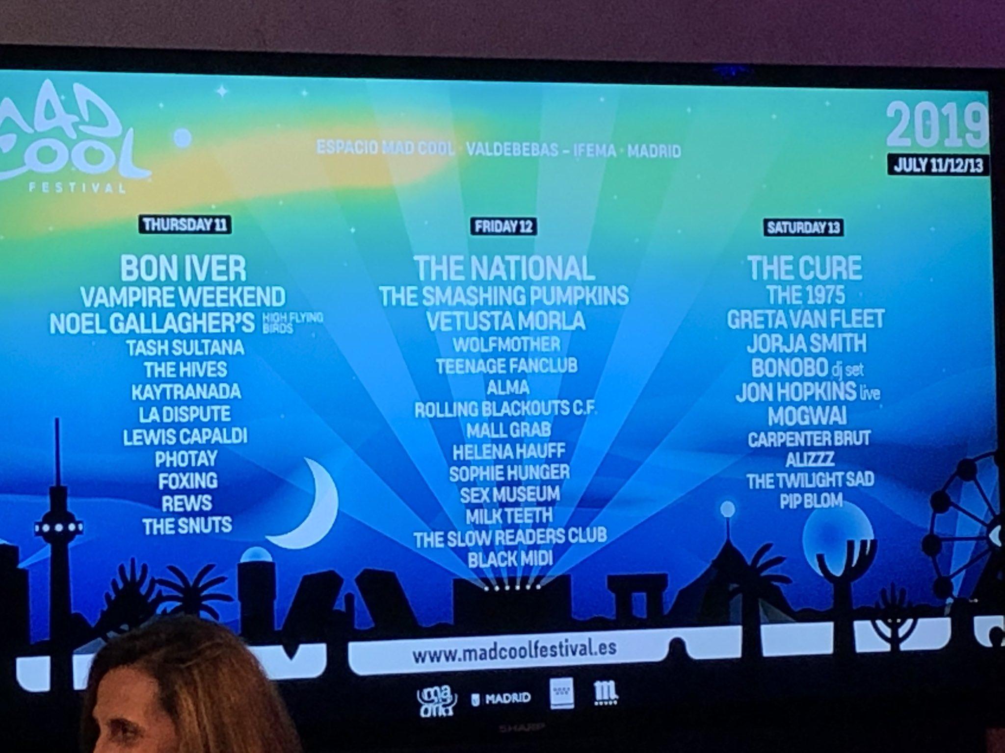 Mad Cool Festival 2019 / Smashing Pumpkins, Greta Van Fleet, Rolling Blackout, Twilight Sad y Sex Museum - Página 2 DtMbieuWkAI-SVv