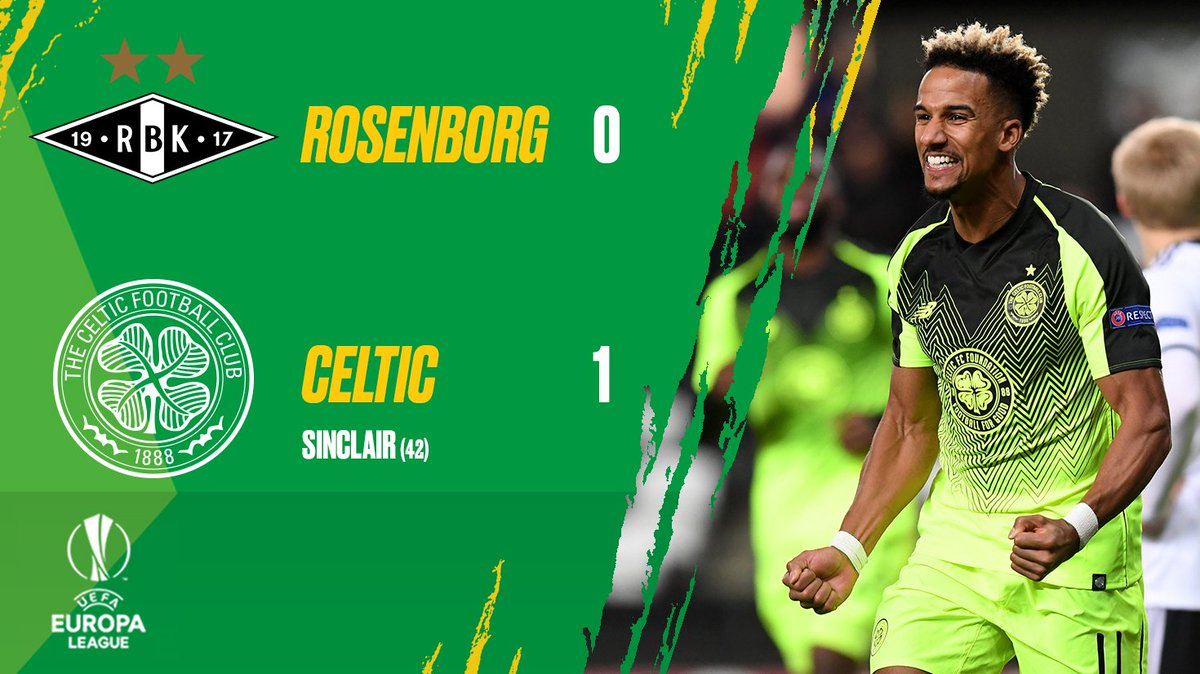 🍀⚪️🍀⚪️🍀  The Celts move up to second in #UEL Group B! 🙌 #RBKCEL
