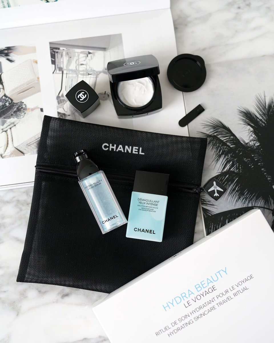 631746efdf2a ... one of three online travel skincare sets from @CHANEL on the blog plus  a roundup of my top ten favorites! http://bit.ly/chanel-hydra-beauty-levoyage  … ...