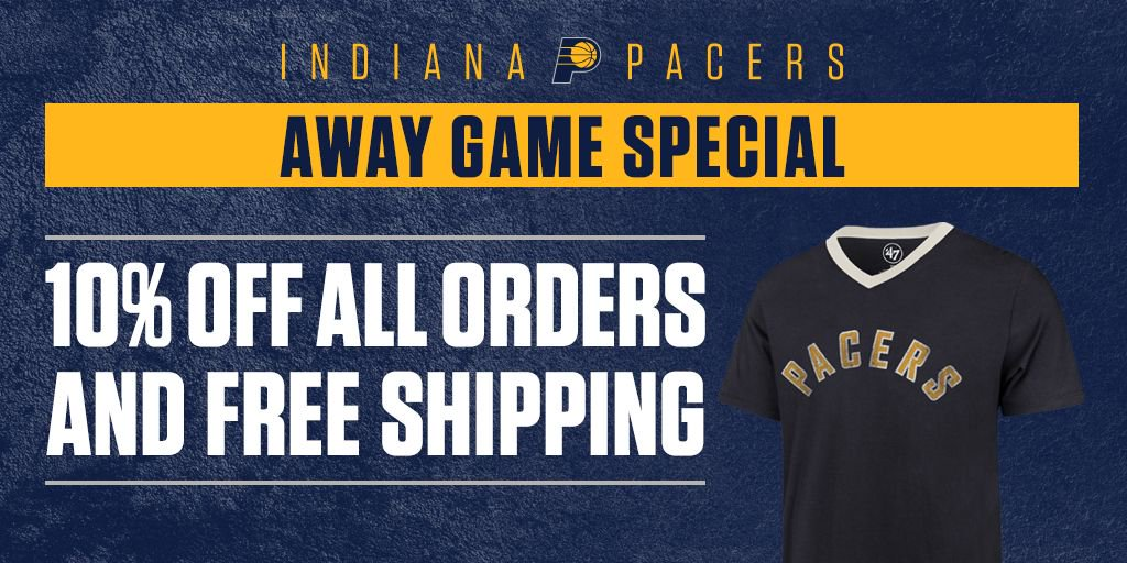huge selection of 0873c 8ea34 Pacers Team Store on Twitter: