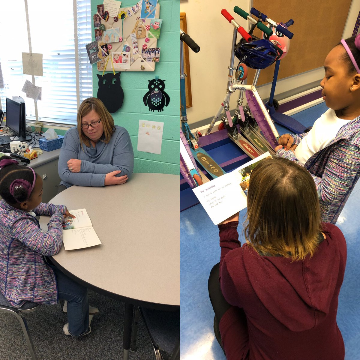 While waiting to read to Mrs Borg this AMAZING first grader read her book to Mrs. Zimmerman😀<a target='_blank' href='http://twitter.com/GlebeAPS'>@GlebeAPS</a> <a target='_blank' href='https://t.co/NdGXLohnrK'>https://t.co/NdGXLohnrK</a>