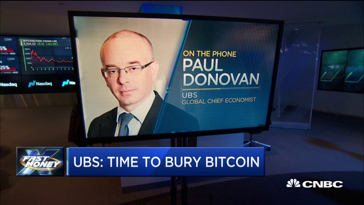 UBS says it's time to bury bitcoin. The man behind the bold call UBS' Paul Donovan makes his case. #bitcoin $BTC