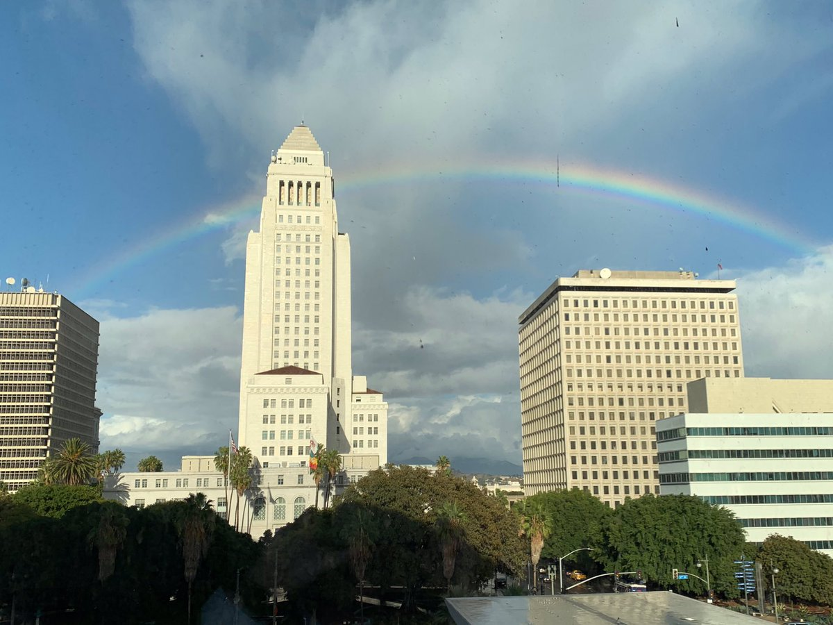 The #LARain might have brought us some extra traffic (and a couple extra accident calls), but look what else it brought us <br>http://pic.twitter.com/mWdaNr7ho1