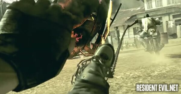 In Resident Evil 5, Chris finds himself swept off his feet by a chain attack from the Rider Majini! How does Sheva help him? Answer below: ▶️ bit.ly/2DJuYYL