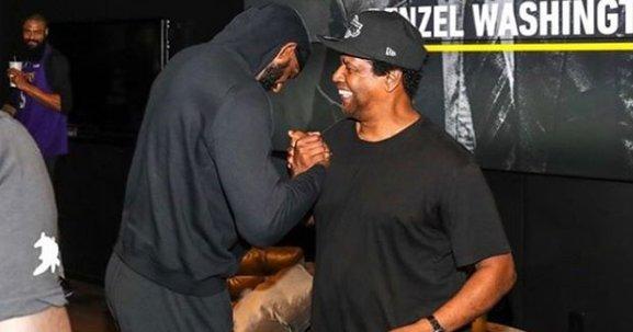 Denzel Washington visits Lakers for  Genius Series  amidst losing skid.  https   7d977bdce