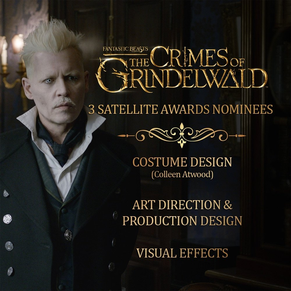 Ifod On Twitter Crimesofgrindelwald Was Nominated For 3 Satelliteawards Best Costume Design Art Direction Production Design Visual Effects Winners Will Be Announced On February 17 2019 Johnnydepp Fantasticbeasts Https T Co