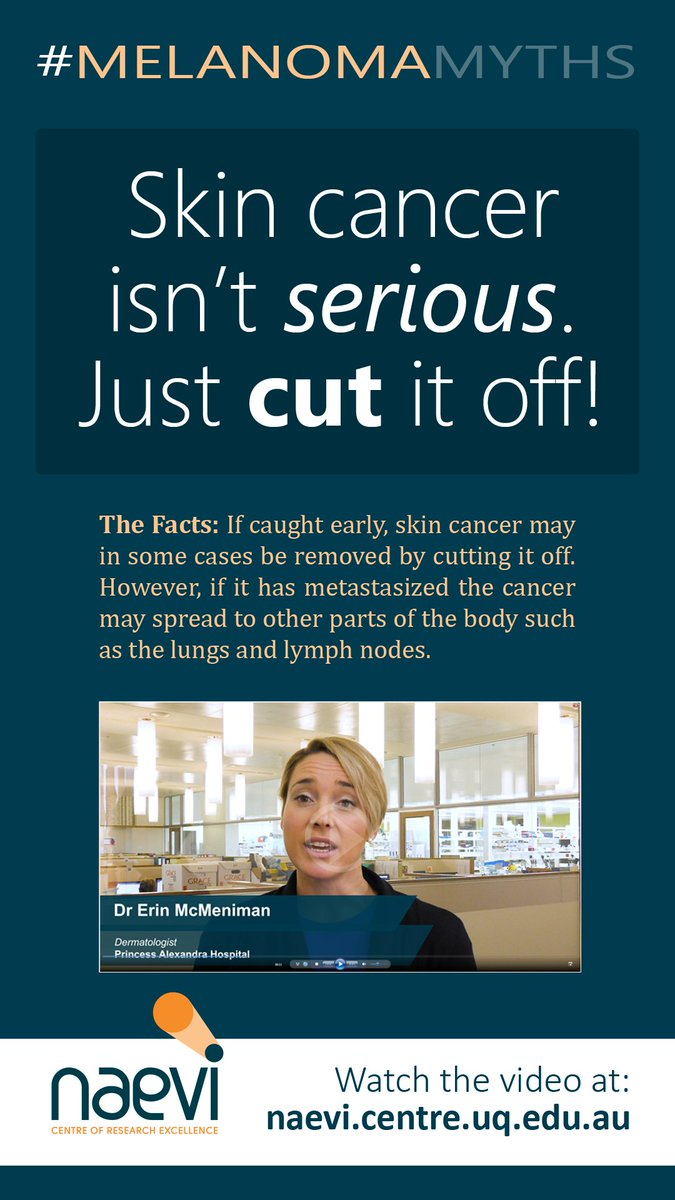 Tri On Twitter Melanoma Myths Skin Cancer Isnt Serious Just
