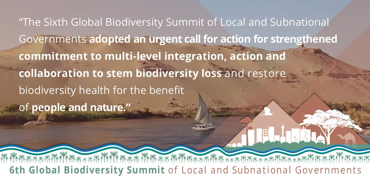 Local & Subnational Governments Call for #Action to Restore #Biodiversity Health  Read all about the #6thBiodiversitySummit at #COP14 on @IISD_news: https://t.co/AwvcpYBOJz  Thanks to all delegates, speakers & our partners: @UNBiodiversity, @nrg4SD, @EGY_Environment
