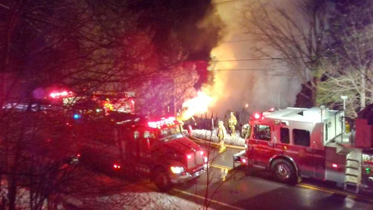 Crews battling structure fire in Honeoye