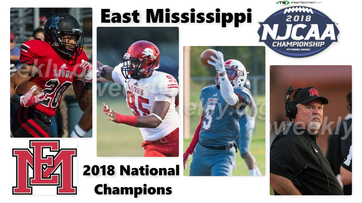 Juco Weekly On Twitter East Mississippi Lions Win 2018 Njcaa