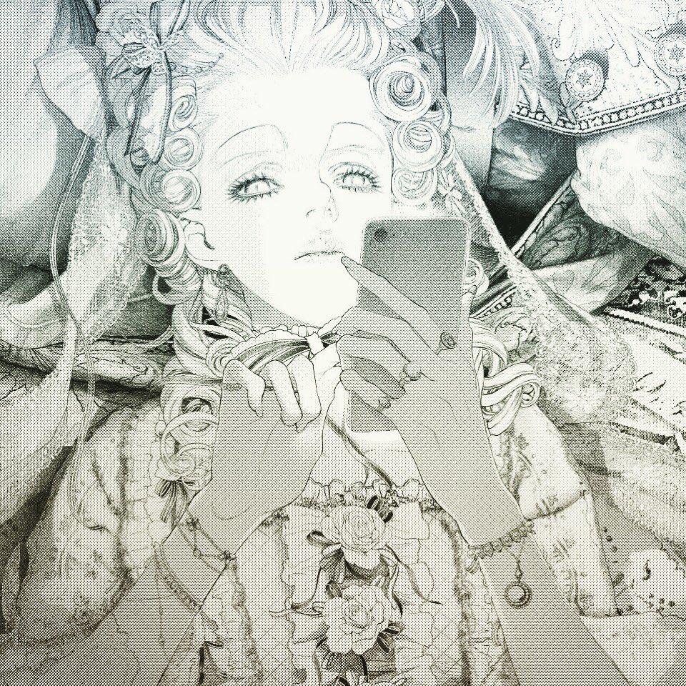 作画3日目。 Marie Antoinette