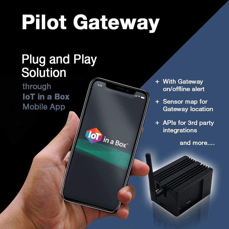 IoTinaBox Powered Pilot Gate-way with @SemtechCorp #SX1301
